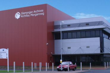 exterior image of glamorgan archives building