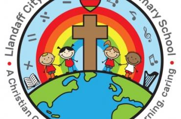 school badge for Llandaff City church in Wales Primary School