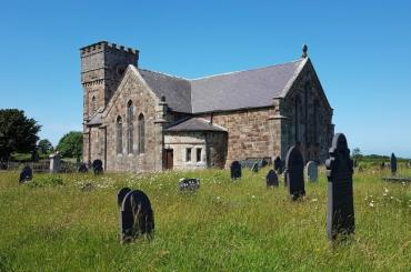exterior image of St Nidan's Church, Llanidan